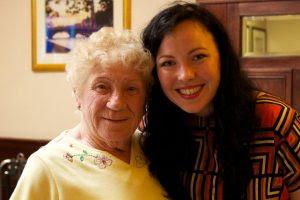 Kathleen and Margaret at the Christmas Dinner Dance.