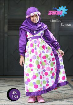 version baju muslim casual anak perempuan