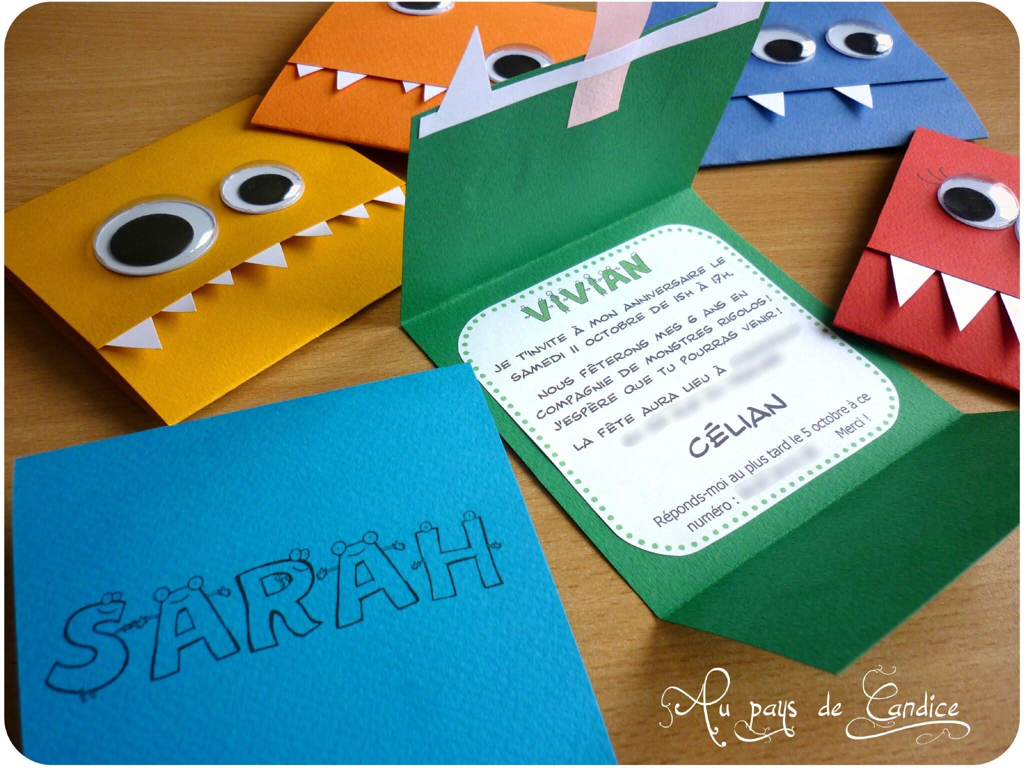 Carte D Invitation Pour Anniversaire 6 Ans Coleteremelly Blog