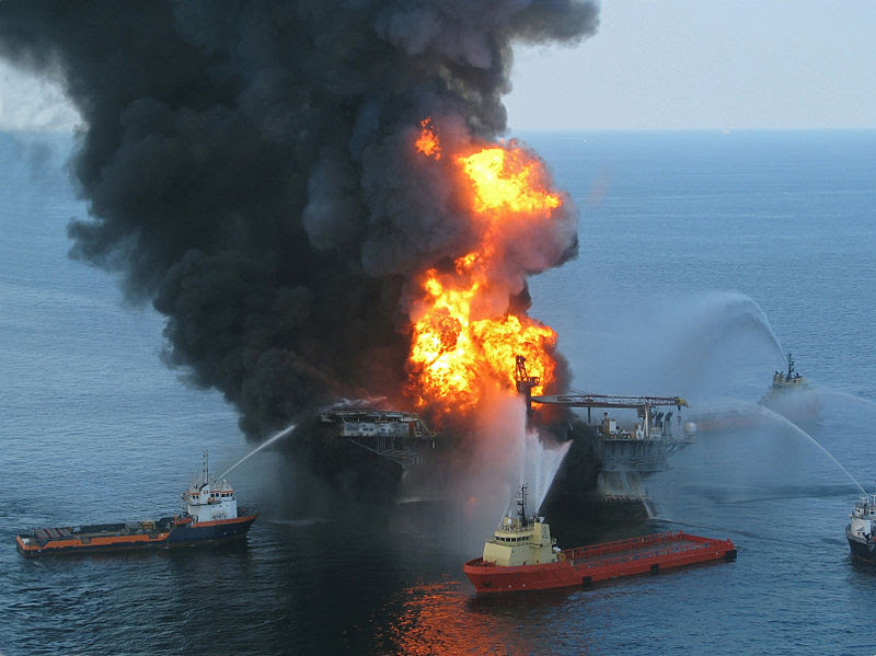 File:Deepwater Horizon offshore drilling unit on fire 2010.jpg