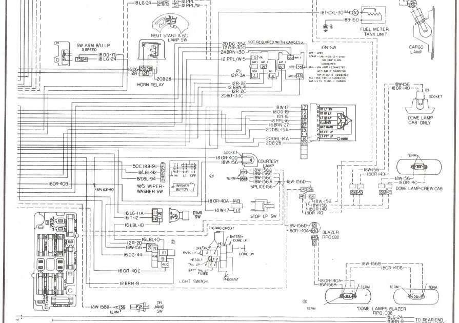 77 El Camino Wiring Diagram Schematic