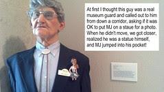 MJ meeets a museum guard