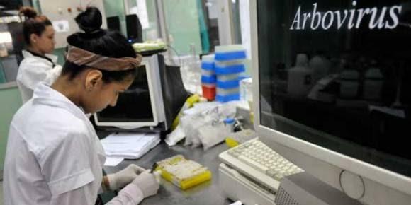 Investigadores del laboratorio de arbovirus del IPK ahondan en el estudio de las cepas cubanas aisladas durante las epidemias de dengue en busca de nuevas respuestas. Foto: LEYVA BENITEZ/ Bohemia
