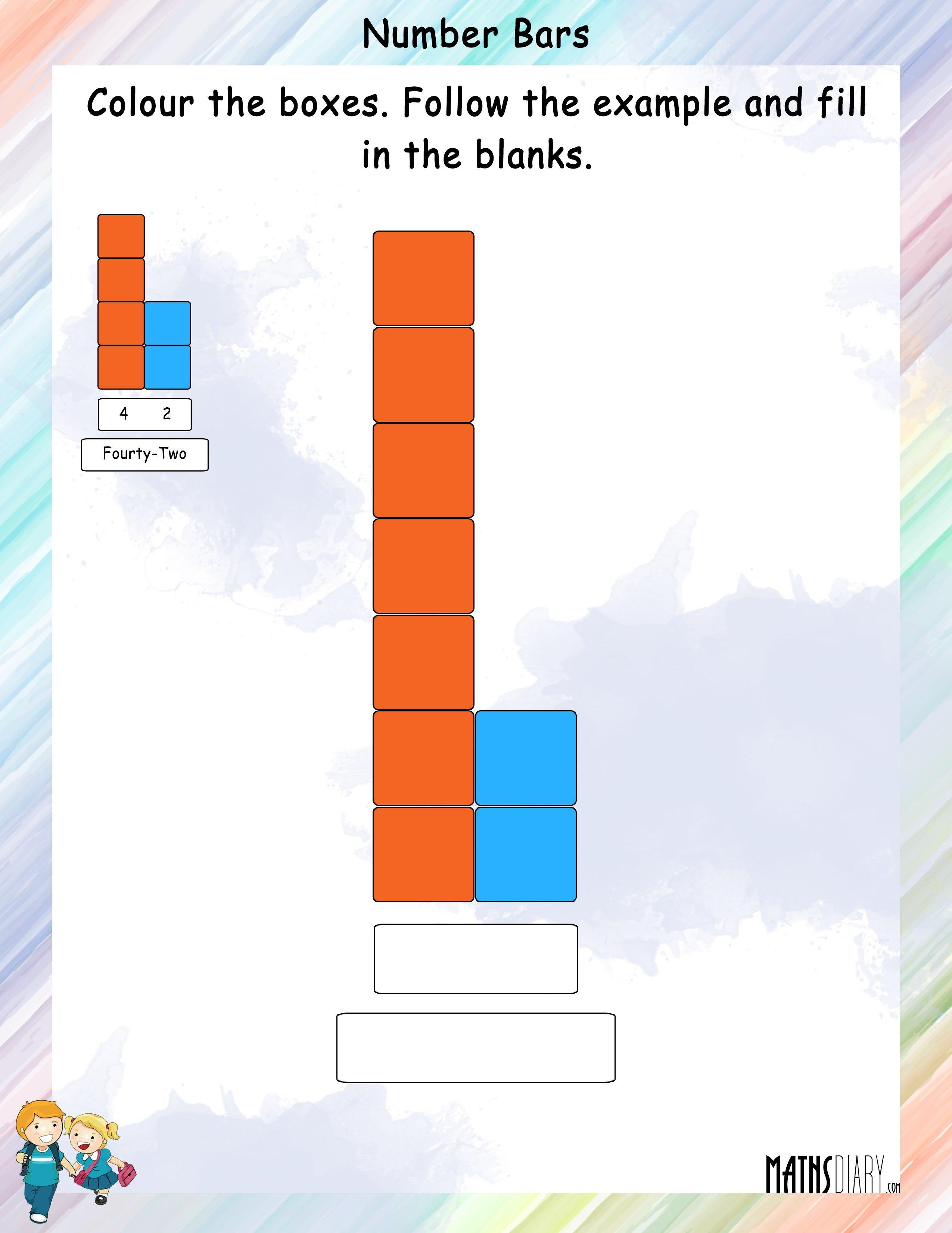 number bars worksheet 2