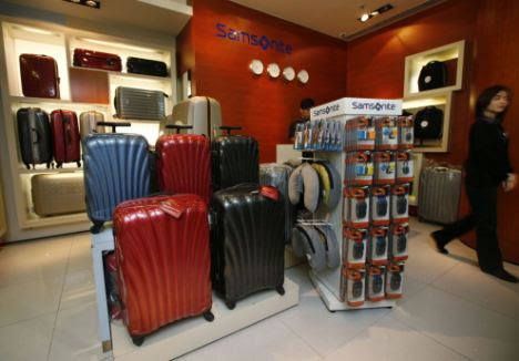 Recall: Samsonite products are displayed at a store in Hong Kong