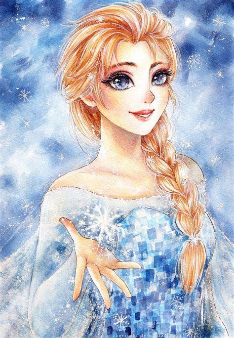 snow queen elsa  cherriuki  deviantart