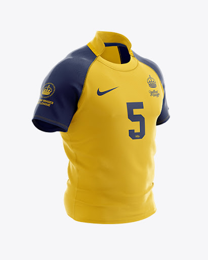 Download Mens Rugby Jersey Halfside View Jersey Mockup PSD File 74 ...
