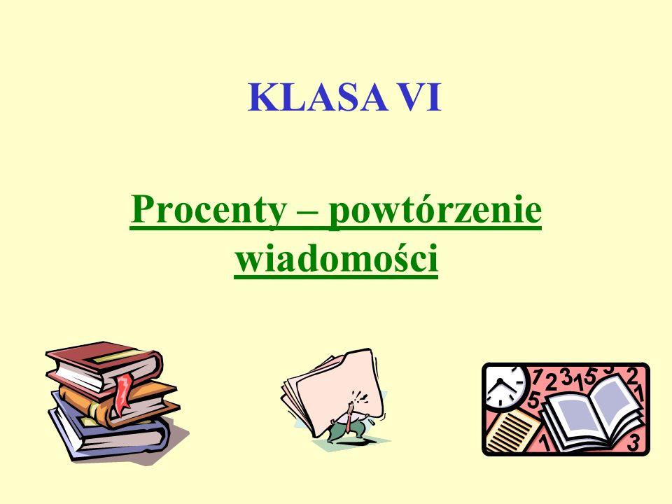 Diagramy Procentowe Klasa 7