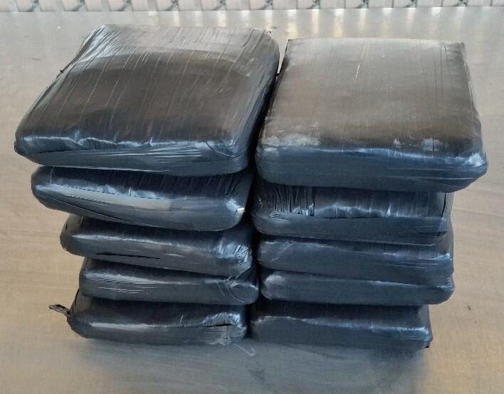 Ten packages of cocaine were removed by CBP officers at the DeConcini crossing, from within the dashboard area of a smuggling vehicle