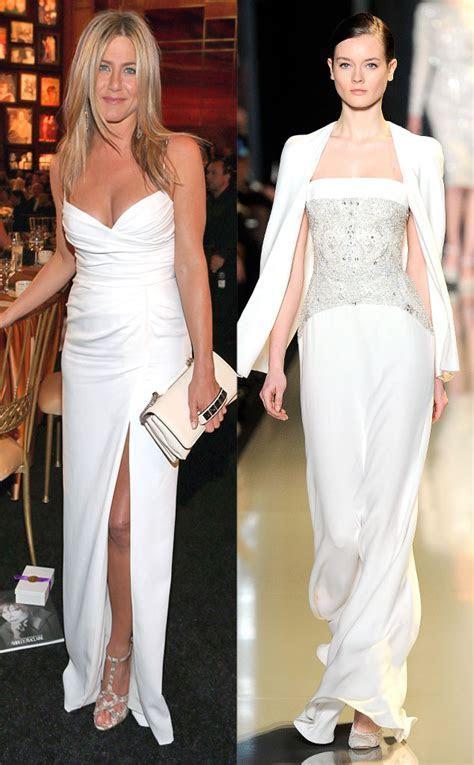 Jennifer Aniston from Celeb Wedding Dress Predictions   E