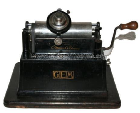 Phonograph GEM C TalkingM Edison, Thomas A., North American