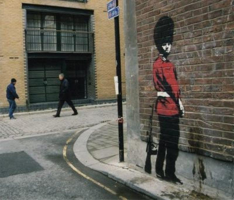 British Soldier Goes To Bathroom Graffiti