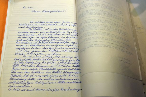 A handwritten plea from Nazi war criminal Adolf Eichmann