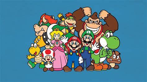 HD Background Mario Bros Luigi Yoshi Princess Peach Donkey
