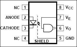 TTL-CMOS logic optocoupler