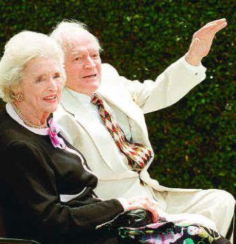 Bob and Dolores Hope in 1997: the laughter in the family home contributed to her parents' long lives, said Linda Hopes
