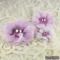 Тканевые цветочки  от Prima -   Dora -  Millinery Collection, 3 шт. - ScrapUA.com