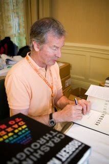 Mike signing copies of Crashing Through