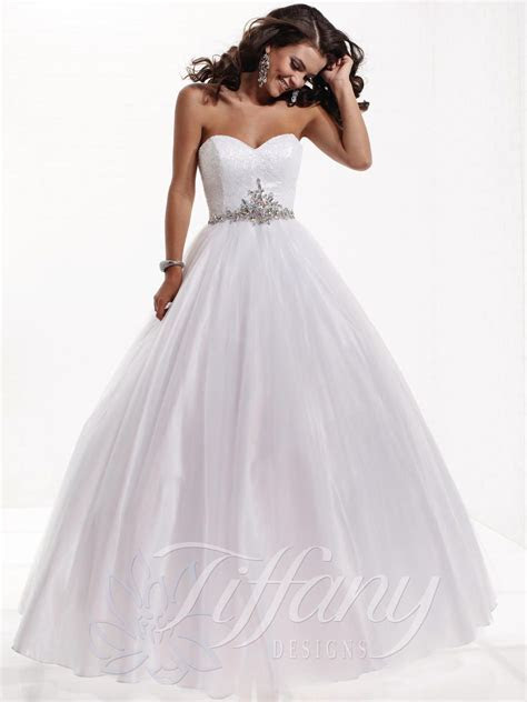 debutante gowns white   Debutante Gowns   Tiffany