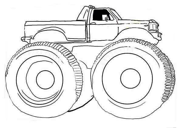 Monster Truck Gunslinger Coloring Page - Download & Print ...