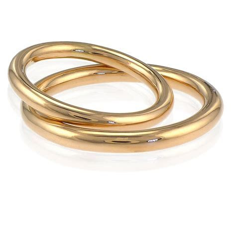 his and hers halo wedding rings in 18ct gold by lilia nash