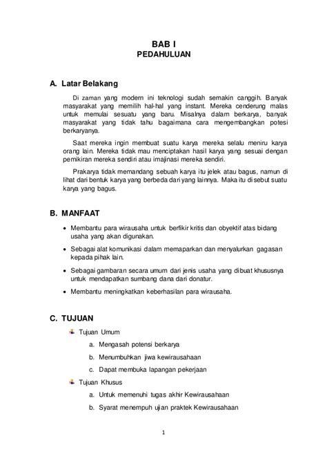Contoh Makalah Bisnis Plan Kewirausahaan - Kumpulan Contoh ...