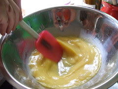 making eggs on the double boiler