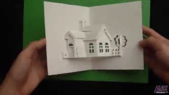 How to Make a House Pop Up Card, Origamic Architecture