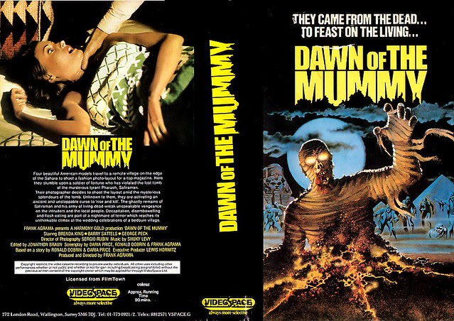 DAWN OF THE MUMMY (VHS Box Art)