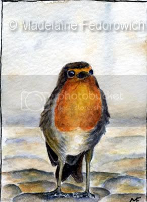 Happy Little Robin ACEO