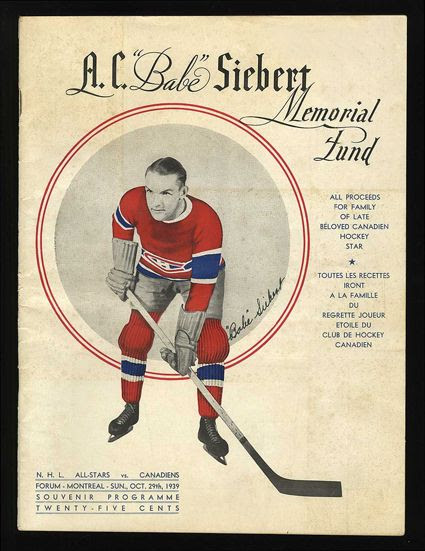Babe Siebert Memorial NHL All-Star Game program photo Babe Siebert Memorial NHL All-Star Game program.jpg
