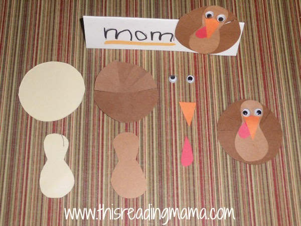 how to make Thanksgiving table-top name cards