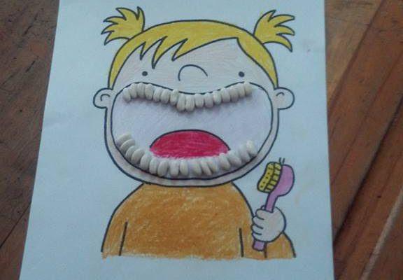 Fasulye Ile Diş Fırçalama Etkinliği Sınıf öğretmenleri Için