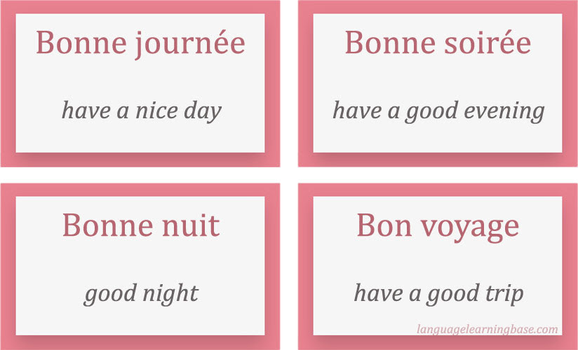 Ways To Say Have A Good Day In French Erva Cidreirainfo
