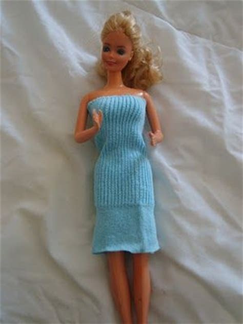 How to make a barbie dress from a sock .. DIY   barbie