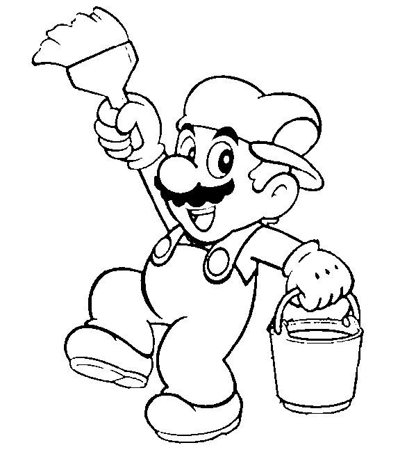 Coloring Page Super Mario 8