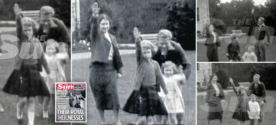 The Queen being taught a NAZI SALUTE by Edward VIII in 1933 video