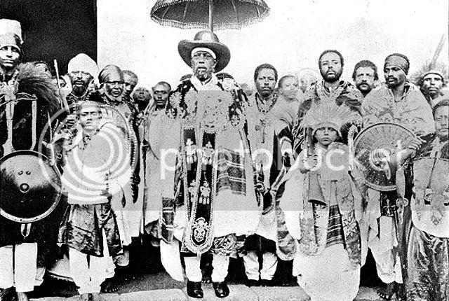 Menelik II and his retainers