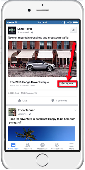 Facebook Lead Ads contextual calls-to-action