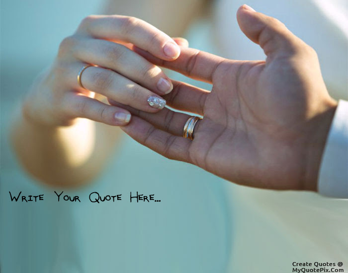 Write Quote On Hand Holding Lovely Couple Picture