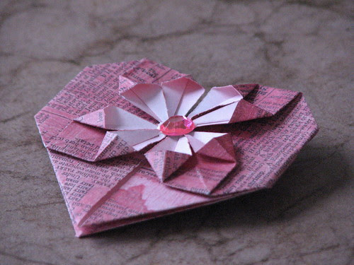 How to Make an Origami Heart | 375x500