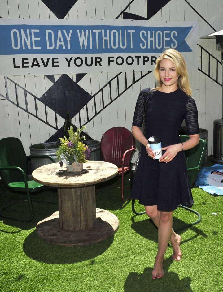 Dianna Agron – TOMS to Go One Day Without Shoes 2014 -03