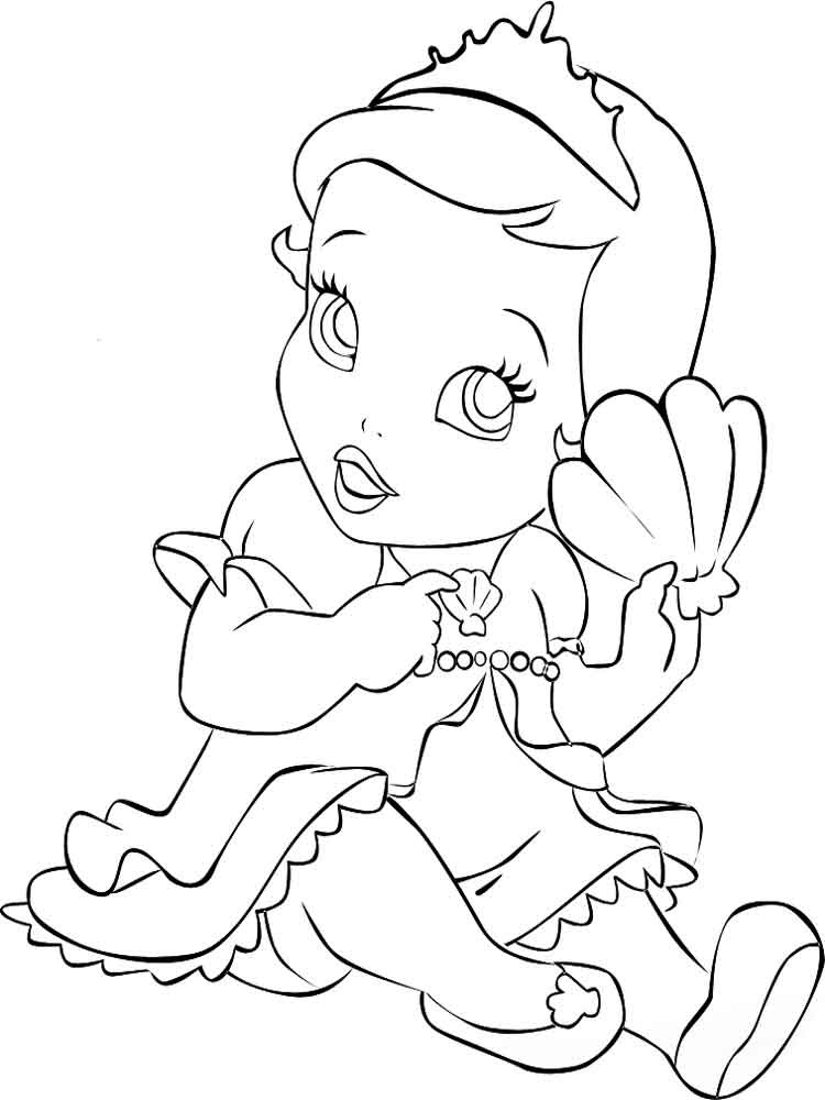 Baby Princess coloring pages. Free Printable Baby Princess ...