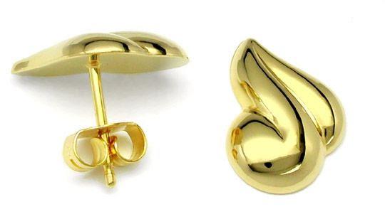 Foto 1, Neu! Topmoderne Gold-Ohr-Stecker 14K/585 Shop Portofrei, S8176