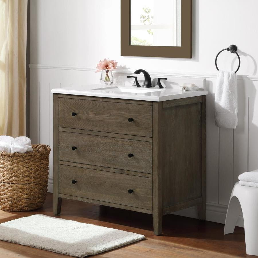 Martha Stewart Willow 36 In Cerused Walnut Undermount Single Sink Bathroom Vanity With Yves Cultured Marble Top In The Bathroom Vanities With Tops Department At Lowes Com