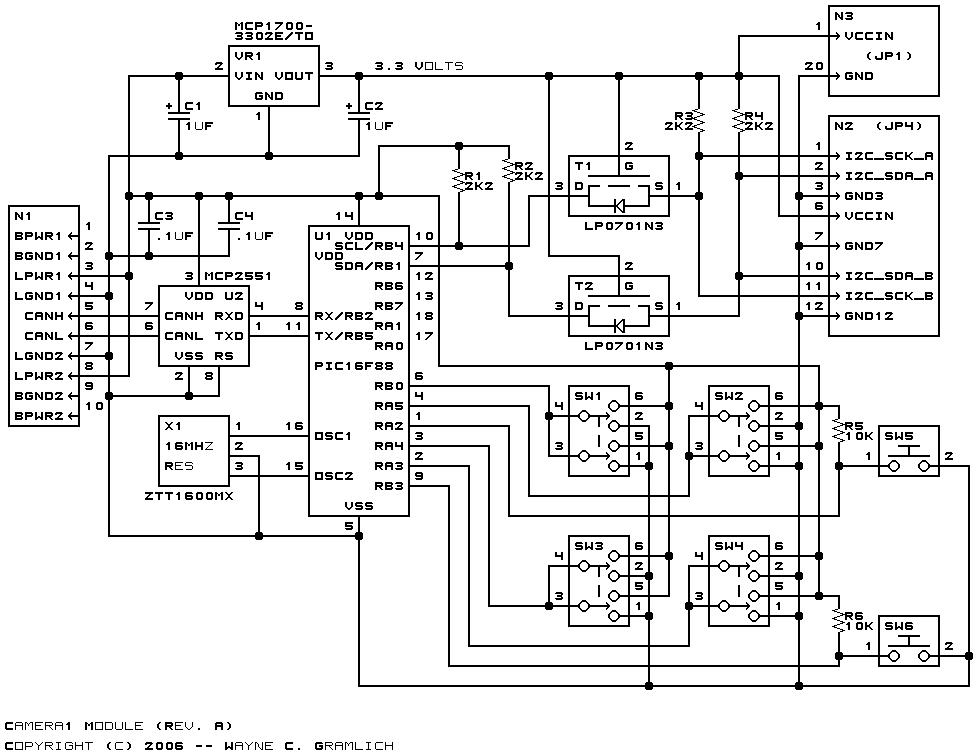 pinhole board camera wiring diagram