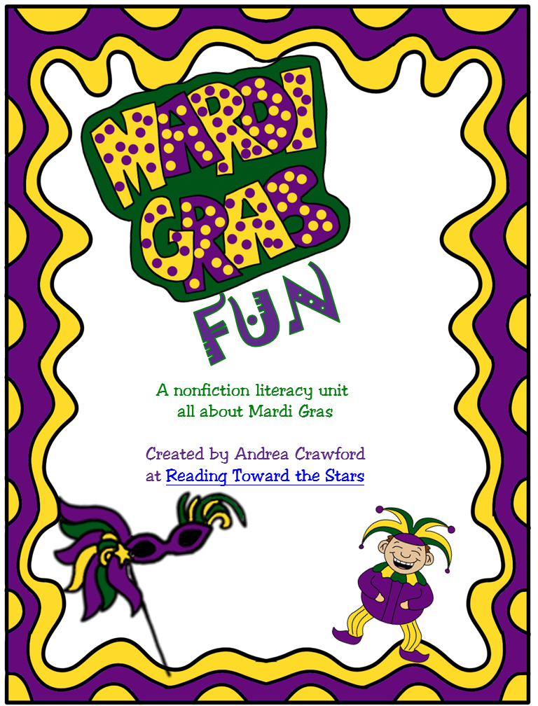 http://www.teacherspayteachers.com/Product/Mardi-Gras-Fun-Literacy-Unit-547269