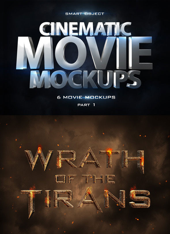 Cinematic 3D Movie Mockups