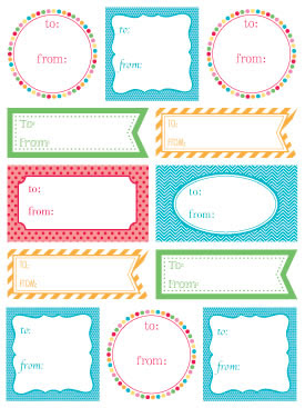 Labels by the Dozen - Everyday Brights picture