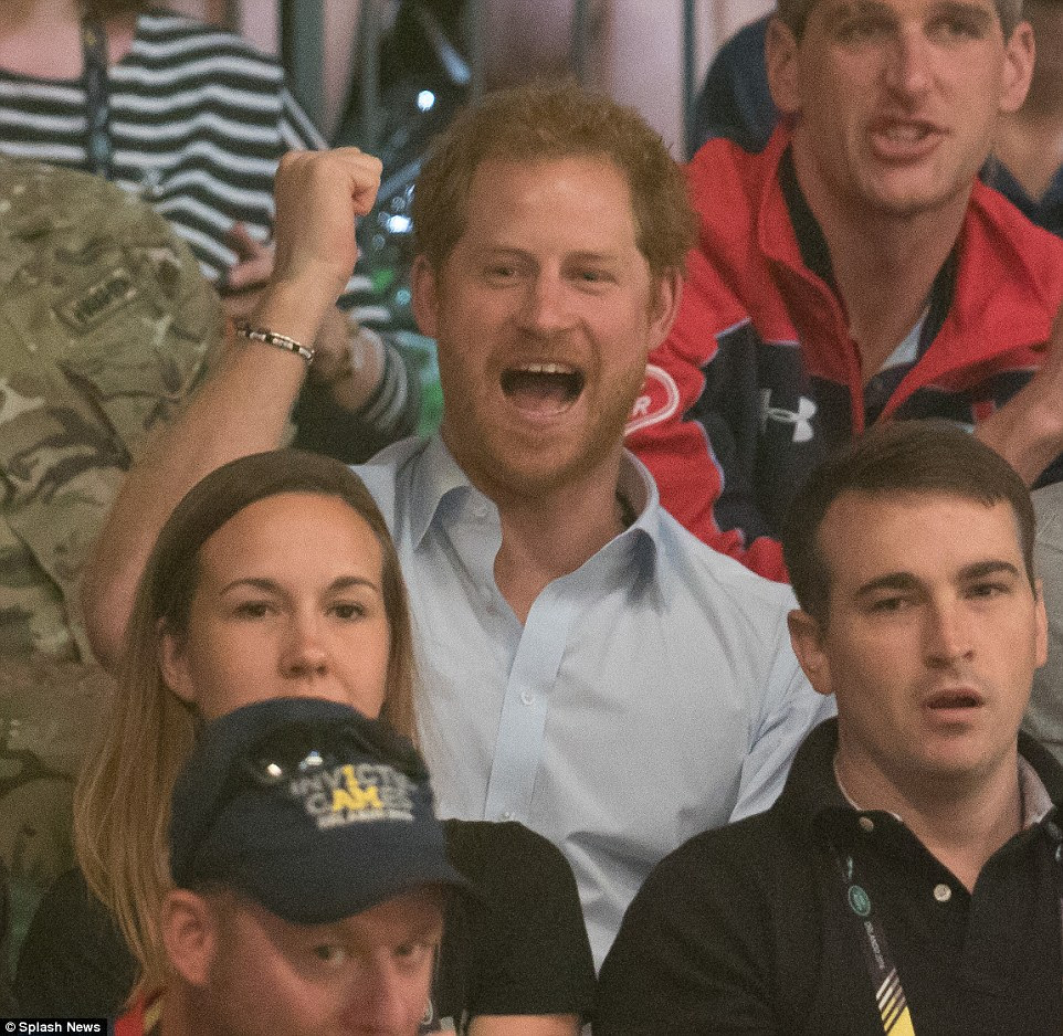 Prince Harry, Harry, who founded the games for wounded, injured and sick veterans, now in its second running after the London Invictus Games in 2014, cheered on the players